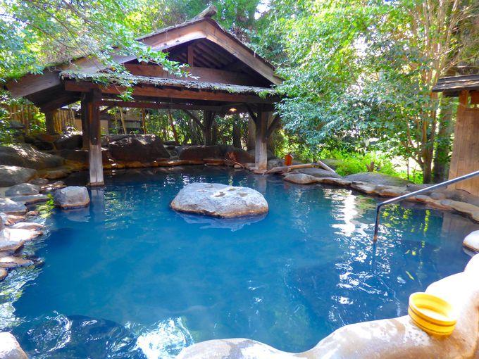 「夢龍胆」の温泉はすべて源泉掛け流しの食塩泉