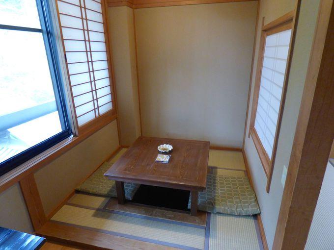 部屋タイプは5つ、それぞれが特徴的な作りでどの部屋でも落ち着く空間に