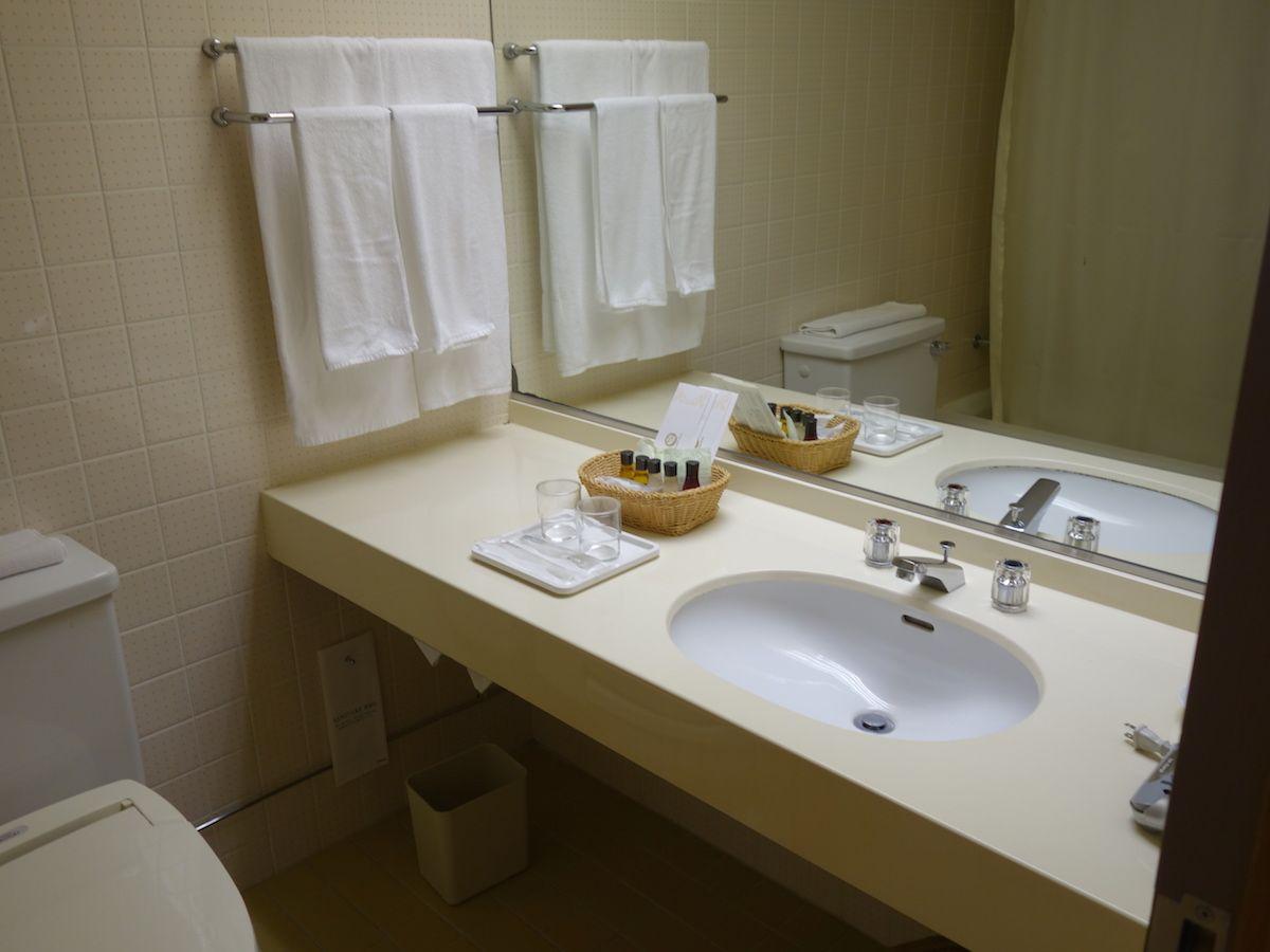 バスルームは標準サイズ、アメニティは女性に嬉しいセットを準備