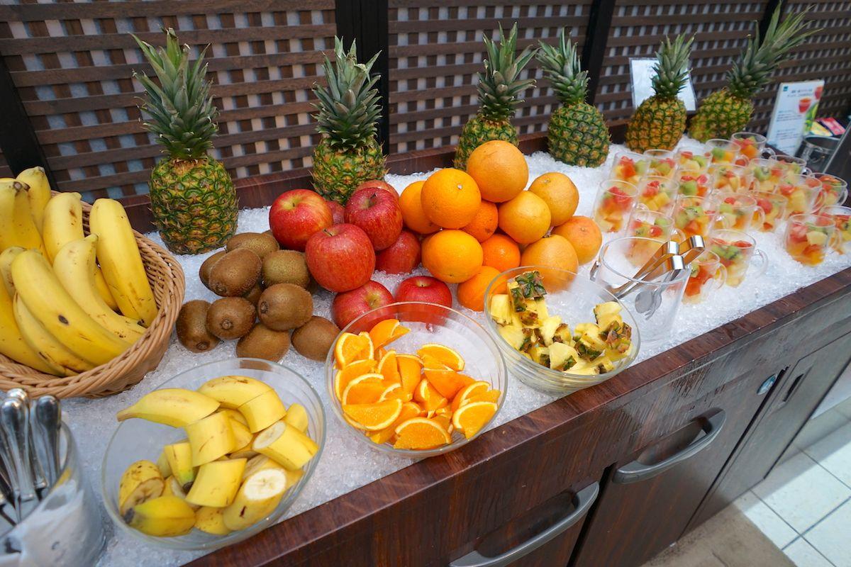朝食ブッフェはフルーツが豪華!