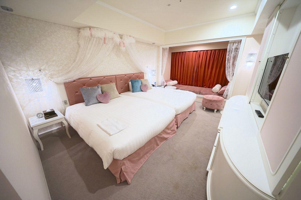 「プリンセス」の客室はお城のアトラクションの中にいるよう!