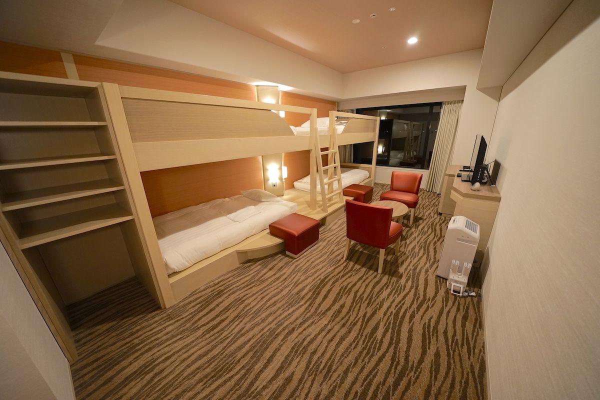 「カルテット」ルームは文字通り4人で思う存分楽しめる客室!