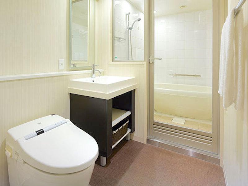 スーペリアタイプの部屋は、洗い場付お風呂でゆったり!