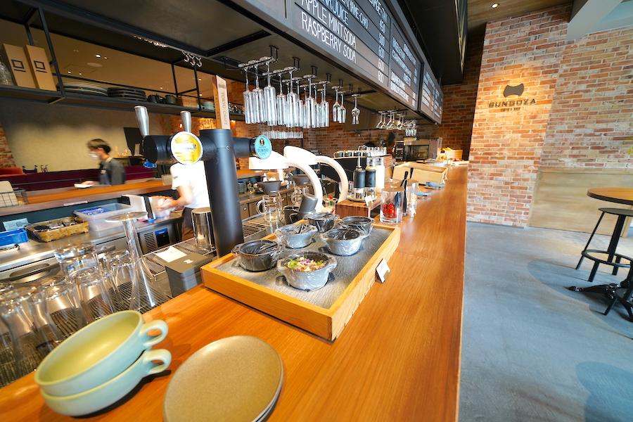充実の施設、カフェが使いやすい
