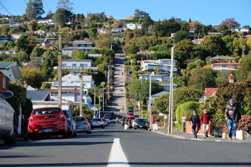 世界で最も急な坂道!NZダニーデン「ボールドウィン・ストリート」 | ニュージーランド | LINEトラベルjp 旅行ガイド