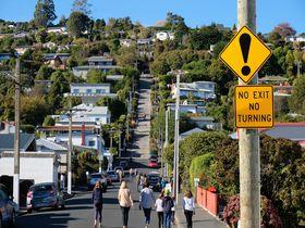 世界で最も急な坂道!NZダニーデン「ボールドウィン・ストリート」