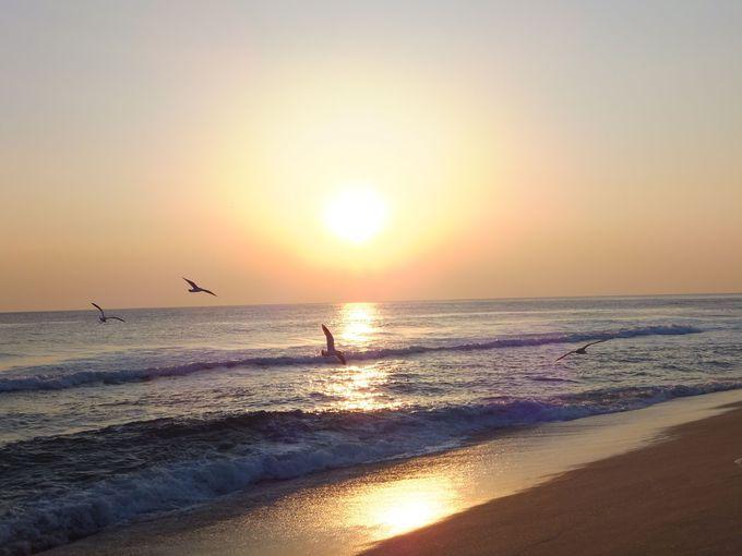 日本海×日の出が美しい!東海岸の「江陵」