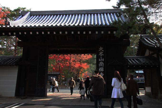 南禅寺入り口から紅葉シャワー