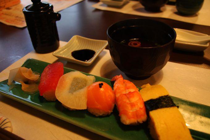 料理の〆はてまり寿司