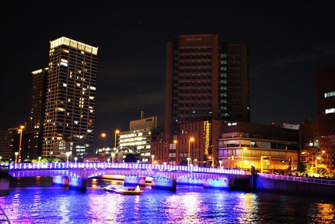 玉江橋のライトアップ