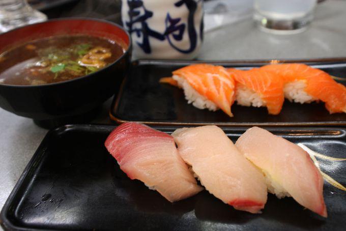 寿司は3貫が基本です