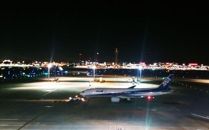 羽田空港国内線が一望の展望台