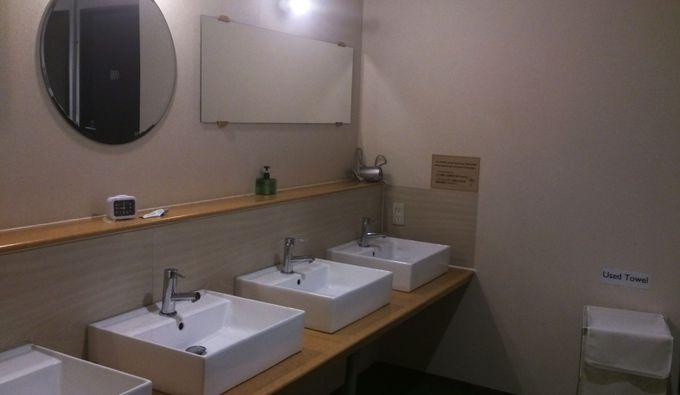 シャワールームも利用者を考えた作りに!