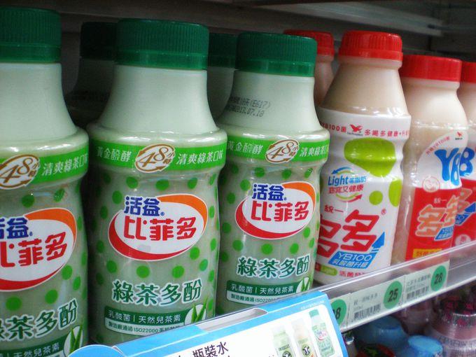豆乳、フルーツ牛乳、ヤクルトなどの乳製品も見逃せない