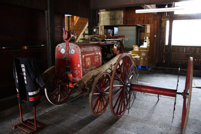 明治時代の消防車も展示