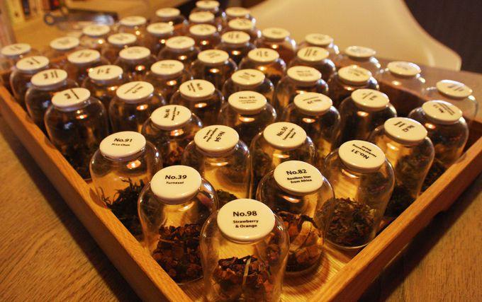 約50種類の茶葉を聞き茶!台北でアフタヌーンティー