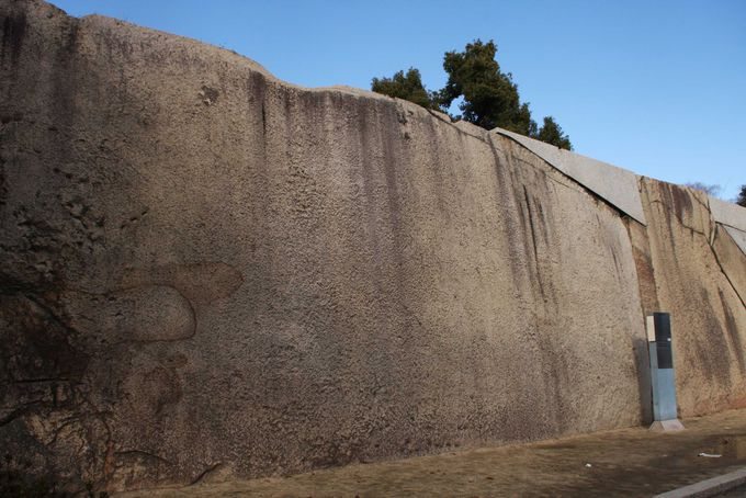 大阪城内で最も巨大な「蛸石」
