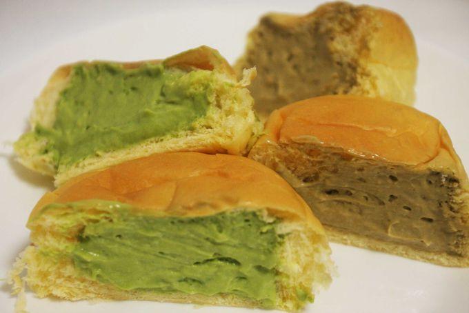 宇治園と八天堂がコラボ「抹茶・ほうじ茶くりーむパン」