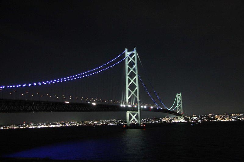 温泉に入りながら明石海峡大橋の夜景を見る贅沢!淡海荘は明石鯛も堪能できる料理宿