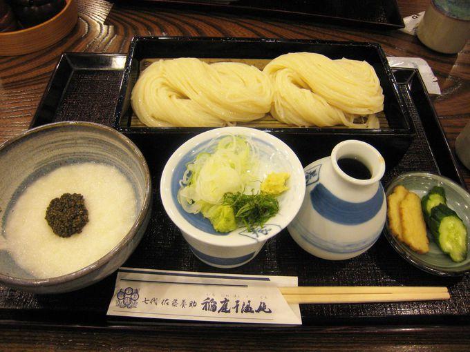 秋田で食べるお見事な稲庭うどん!体験工房で製造工程も楽しめる「佐藤養助商店」