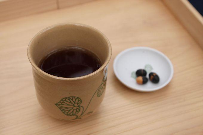 まめ豆茶でほっと一息