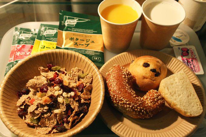 シンプルながらもバリエーション豊富な朝食