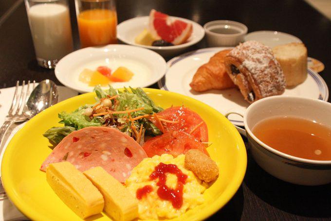 100%国産の野菜を使った豪華な朝食ビュッフェ