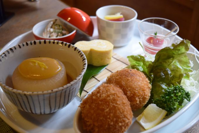 京野菜を使ったヘルシーおばんざいランチ