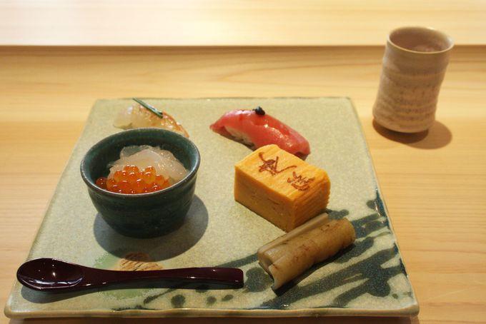 オリジナル醤油が絶品!寿司カウンター