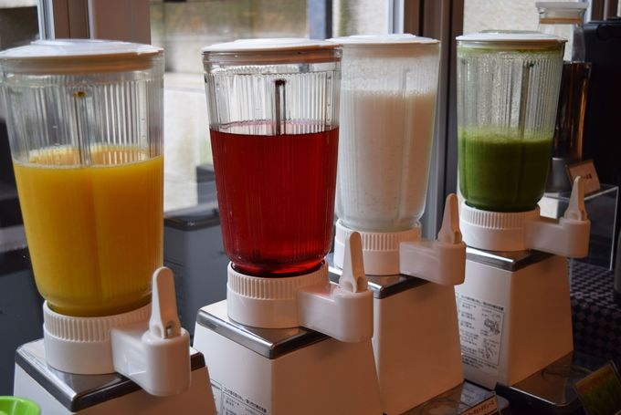 旬の野菜や果物を使った自慢のフレッシュジュース