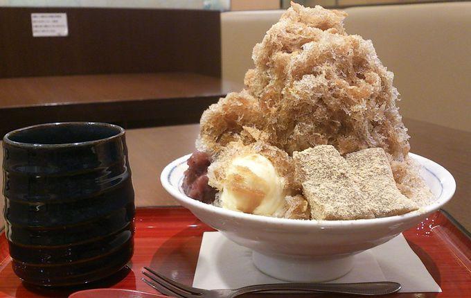 黒糖・ミルク・きな粉のザ・和のかき氷!茶寮有里