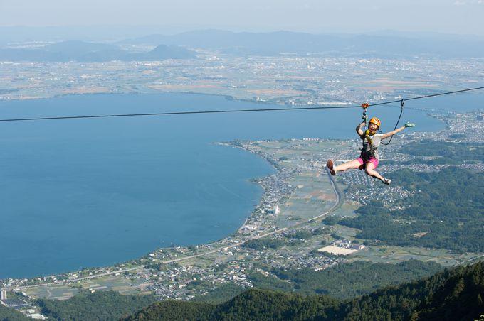 クライマックスは琵琶湖の上を飛びます!