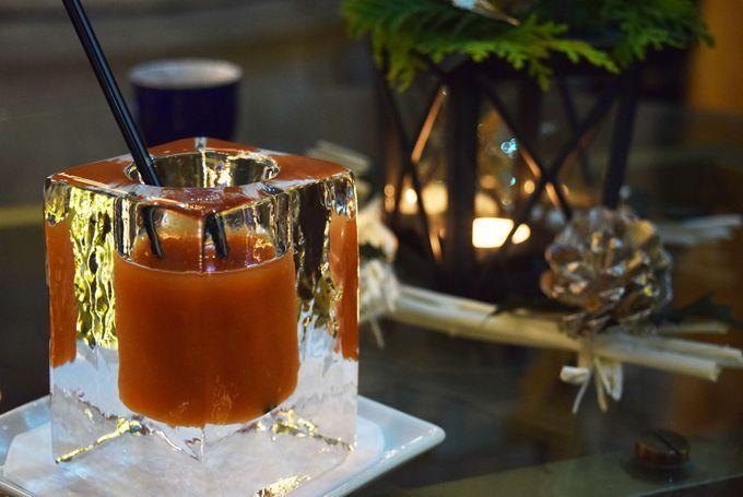クリスマスナイトはアイスグラスで乾杯!