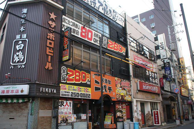 あの有名な海鮮丼のお店もすぐ裏に!