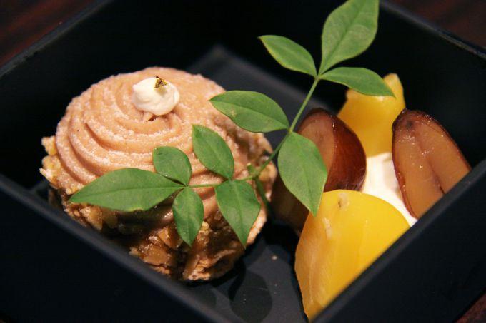 秋の味覚 いちじくとマロンを和テイストで