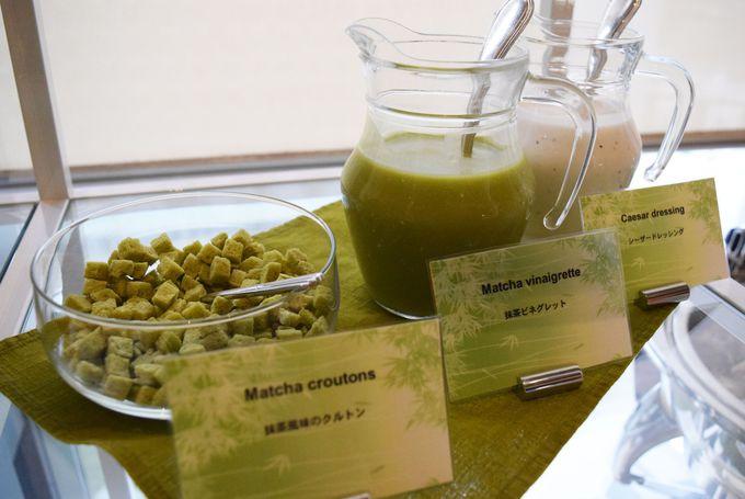 軽食もグリーンのものが盛りだくさん!