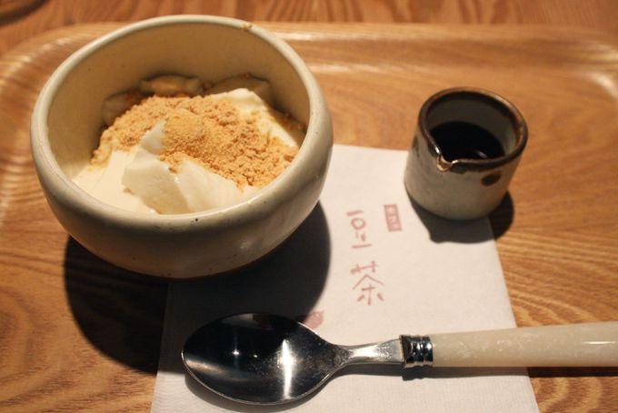 デザートは豆乳プリン黒蜜がけや豆乳ロールケーキがオススメ