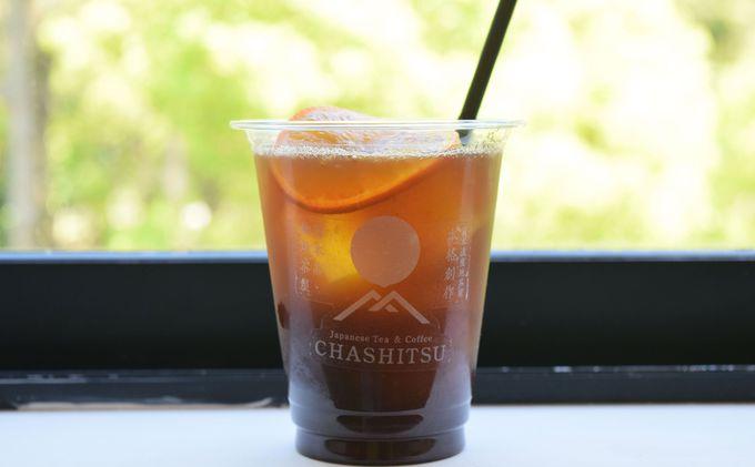 日本茶とコーヒーがコラボした独創的な世界観