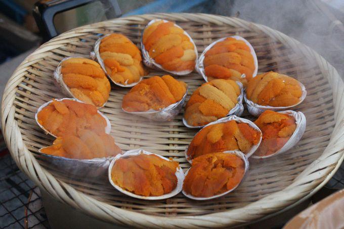 朝食のおススメはせんべい汁・焼きうに・焼き小龍包