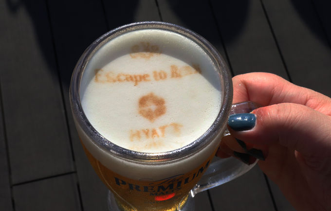 フルーツジャーカクテル&ビールアートが楽しい!