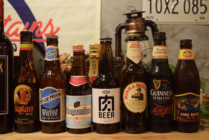 ドリンクメニューは100種類!ビールの種類も豊富