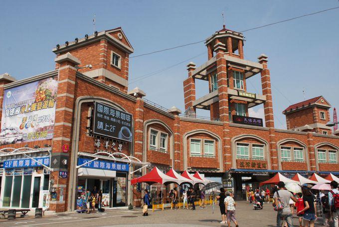 旗津輪渡站はレトロな建物