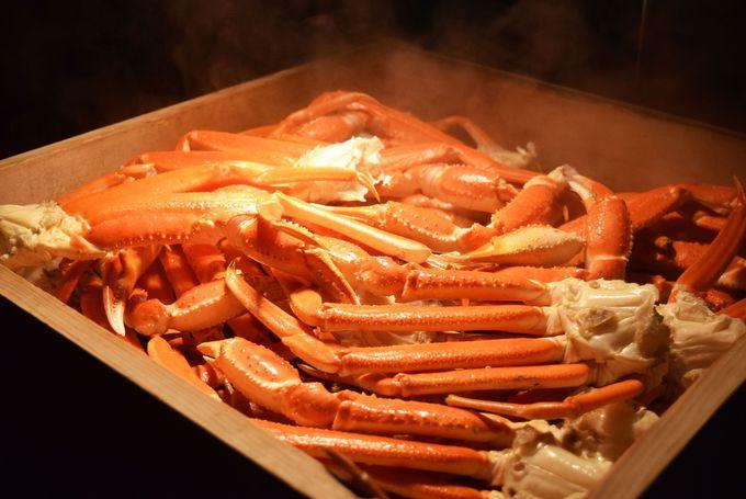 ずわい蟹のソースは台湾風で味変!
