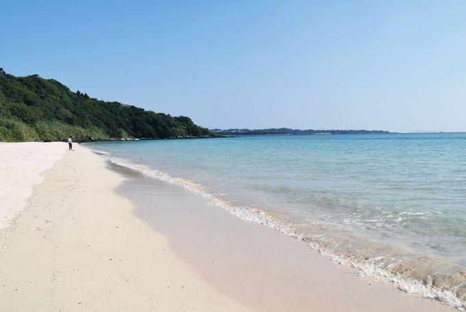 これぞ離島ならではの白砂ビーチ!