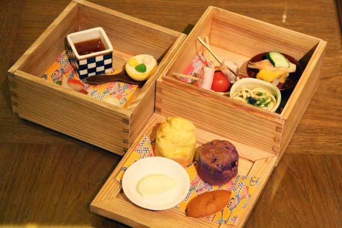 琉球食材を使った琉球アフタヌーンティーセット