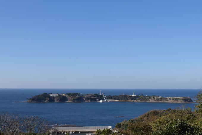 対馬の最北端にある韓国展望所