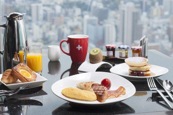 地上36階で食べる絶景朝ごはん