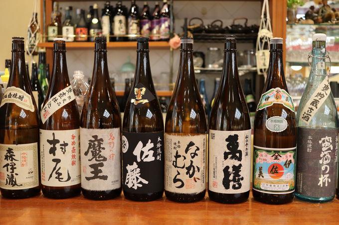 鹿児島名産の芋焼酎がなんと80種類以上!