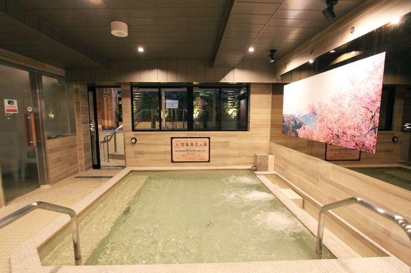 露天高濃度炭酸湯に女性専用の岩盤浴!シャンプーバーも充実!