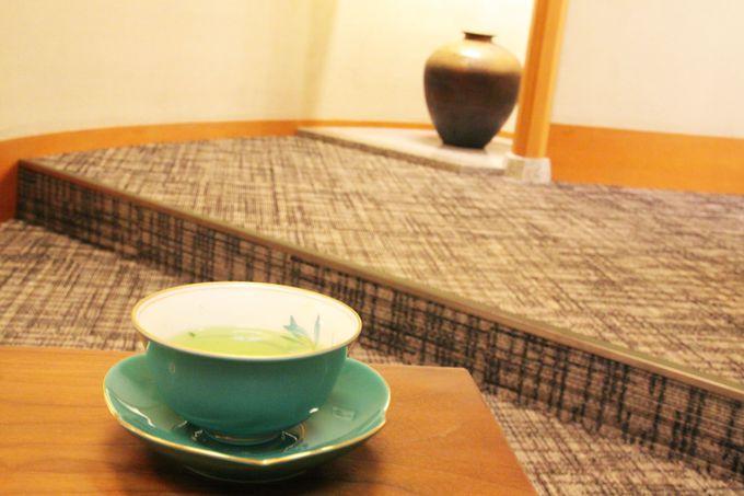 マッサージ後はおいしいお茶でほっと一息